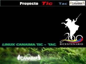 Inicio de sesion Oficial de Linux Canaima TIC - TAC 2011