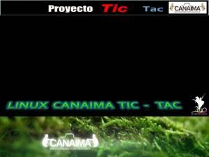 Inicio de Burg (GRUB) Oficial de Linux Canaima TIC - TAC 2011