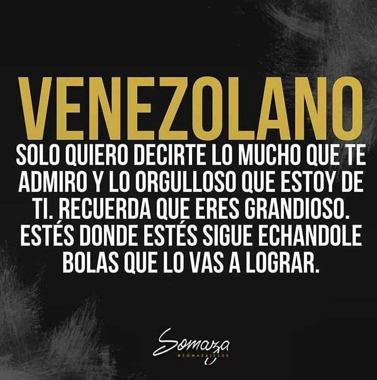 Venezolanos orgullosos