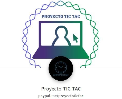 Proyecto Tic Tac: Donar por Paypal.me