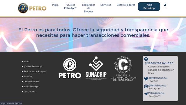 Página web oficial del Petro (PetroApp)