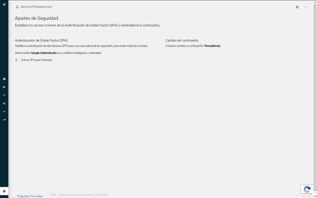 Ajustes: Séptimo módulo de la Plataforma web del Sistema PetroApp