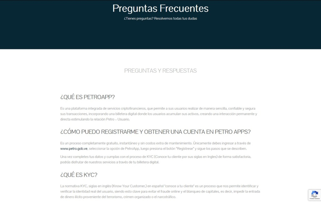 Preguntas frecuentes: Octavo módulo de la Plataforma web del Sistema PetroApp
