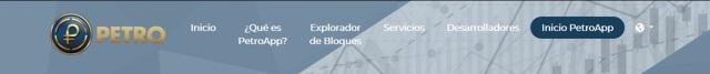 Inicio de sesión en el Sistema PetroApp a través de la página oficial del Petro