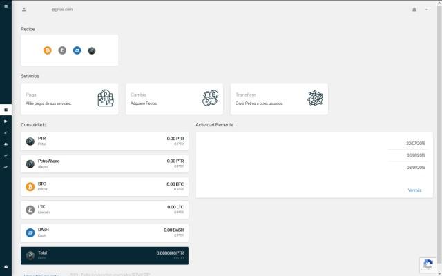 Tablero: Interfaz principal y primer módulo de la Plataforma web del Sistema PetroApp