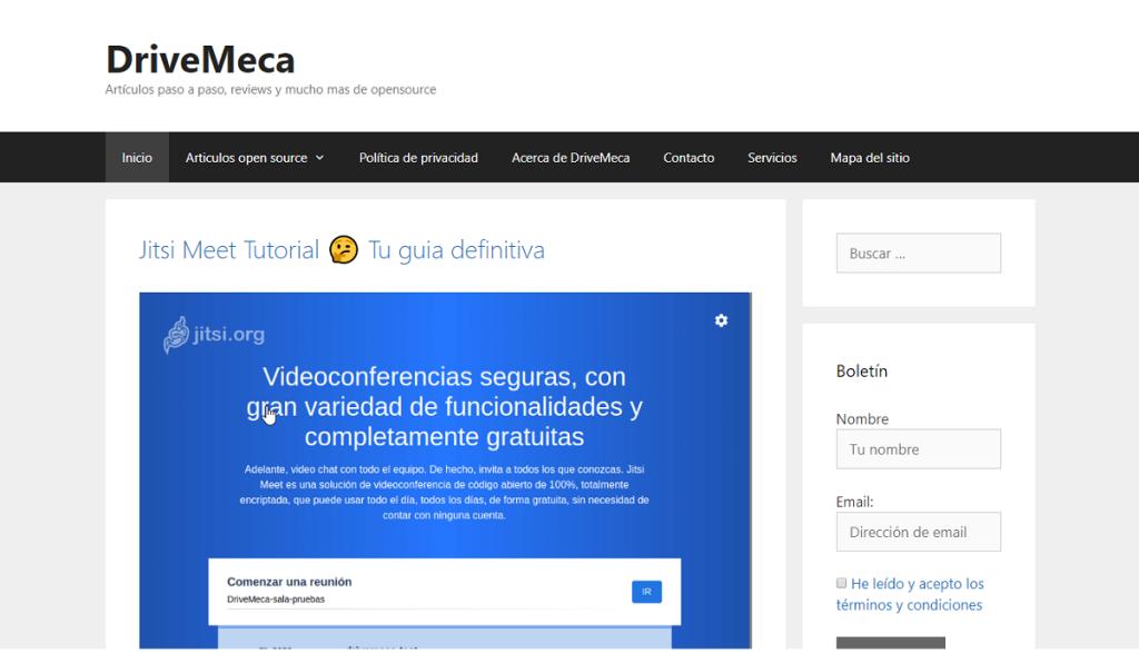 Blog: DriveMeca - Artículos paso a paso, reviews y mucho más de opensource