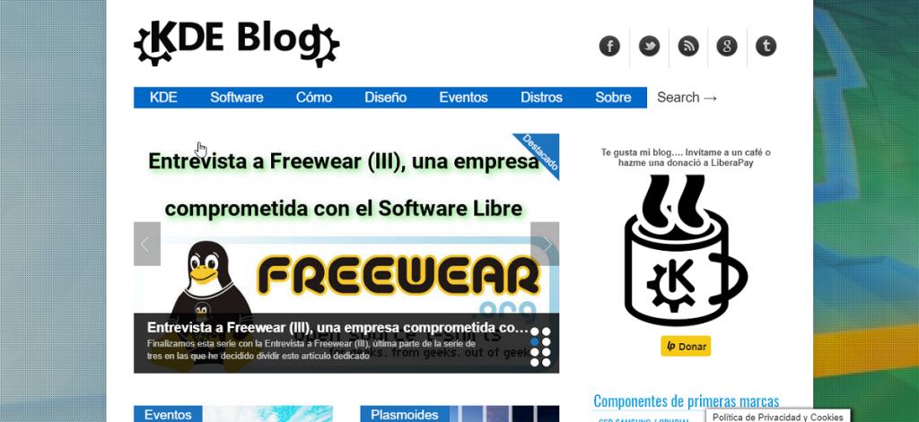 Blog: KDE Blog - Bitácora sobre el Software Libre centrado en el escritorio Linux Plasma de la Comunidad KDE
