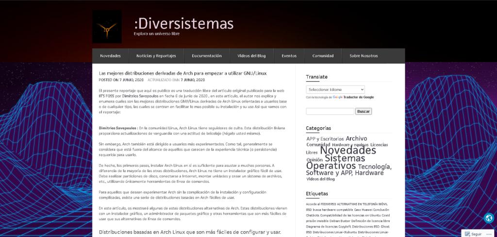 Blog: :Diversistemas - Explora un universo libre
