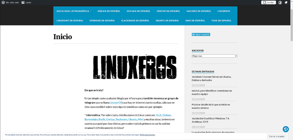 Blog: LinuxerOS - Un Blog sobre GNU/Linux, Android, Hacking, Música, Juegos y más…