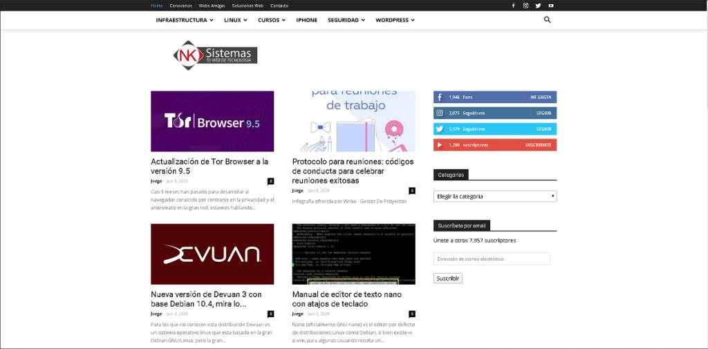 Blog: NK Sistemas- Tu web de tecnología.
