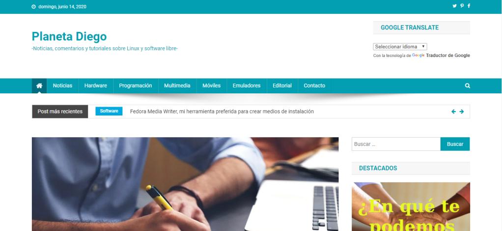 Blog: Planeta Diego - Noticias, comentarios y tutoriales sobre Linux y software libre