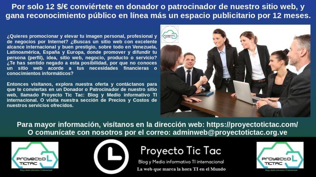 Donadores y Patrocinadores del Proyecto Tic Tac