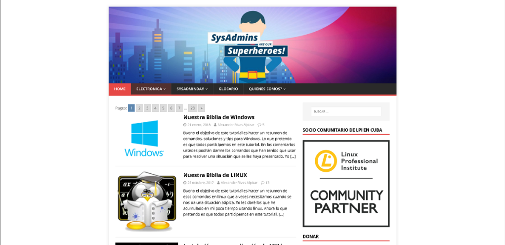 Blog: Sysadmins de Cuba | Software Libre