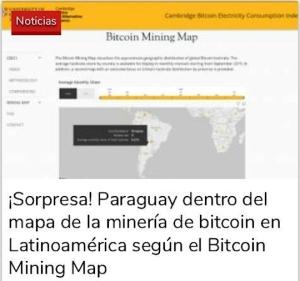 ¡Sorpresa! Paraguay dentro del mapa de la minería de bitcoin en Latinoamérica según el Bitcoin Mining Map
