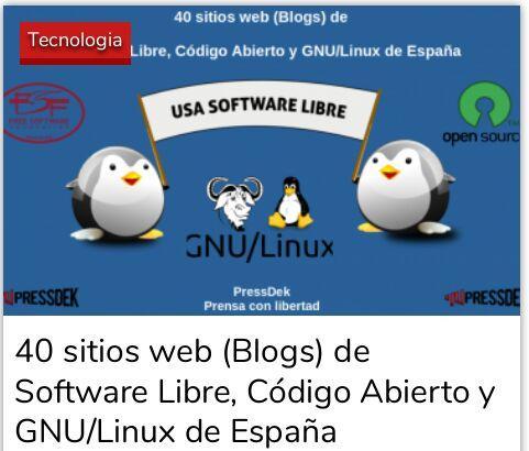 40 sitios web (Blogs) de Software Libre, Código Abierto y GNU/Linux de España