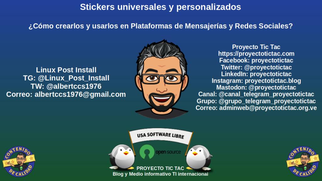 Bonus de Obsequio: Más de 1000 Stickers para descargar y hacer nuestros propios packs