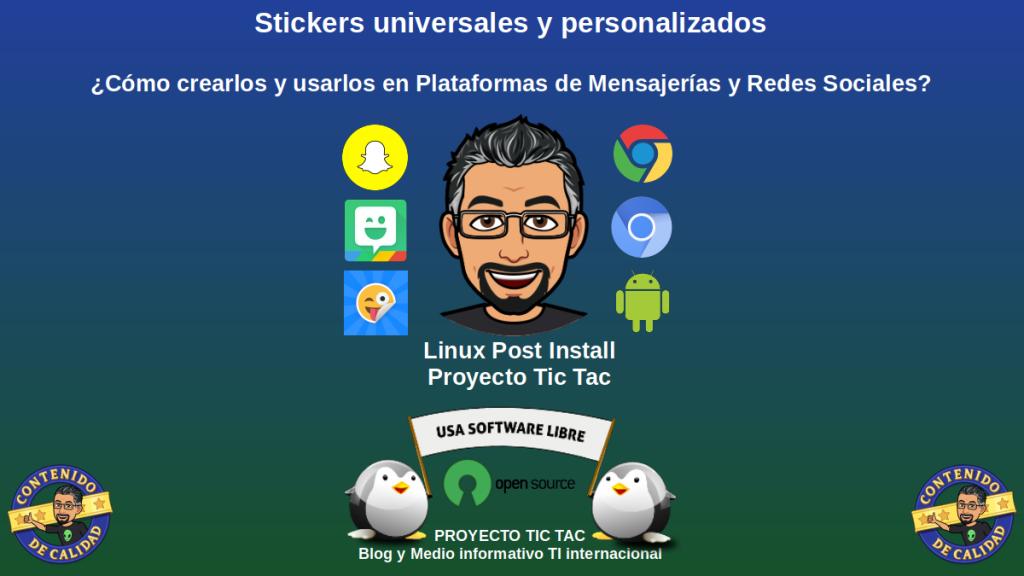 Apps para crear Stickers universales y personalizados