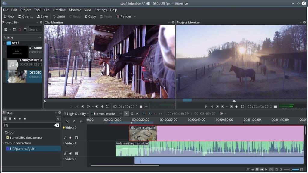Kdenlive es un editor de video muy completo que utiliza las librerías Qt