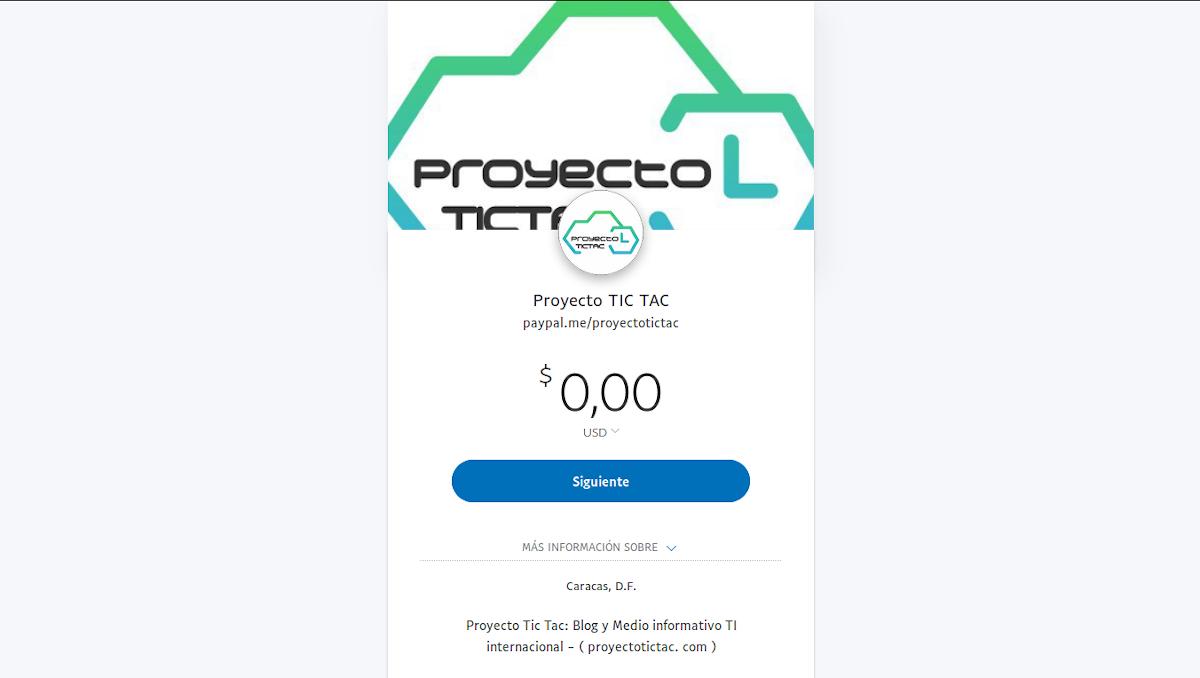 Dona al Proyecto Tic Tac cualquier monto