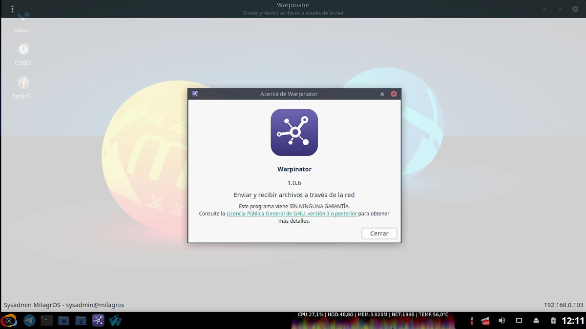 Warpinator: App de Linux Mint