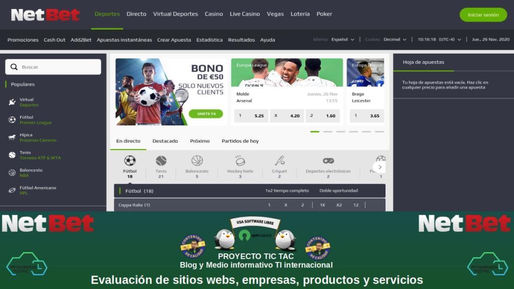 NetBet Sport: Apuestas Deportivas | Apuestas Online.