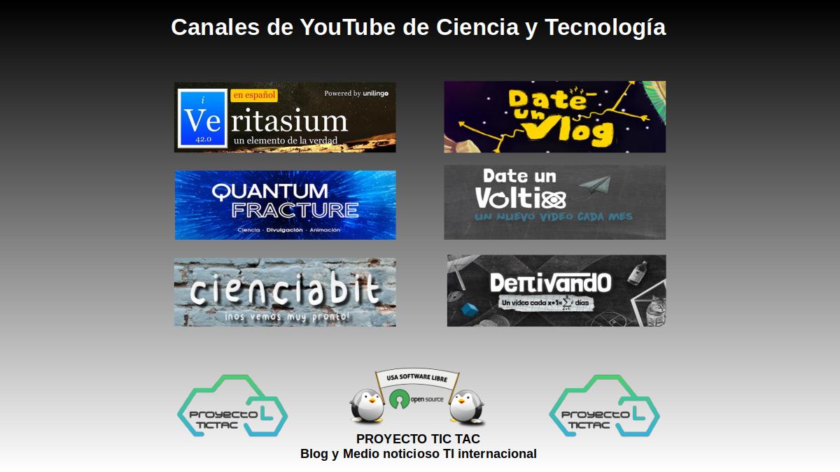 Canales de YouTube de Ciencia y Tecnología en Español