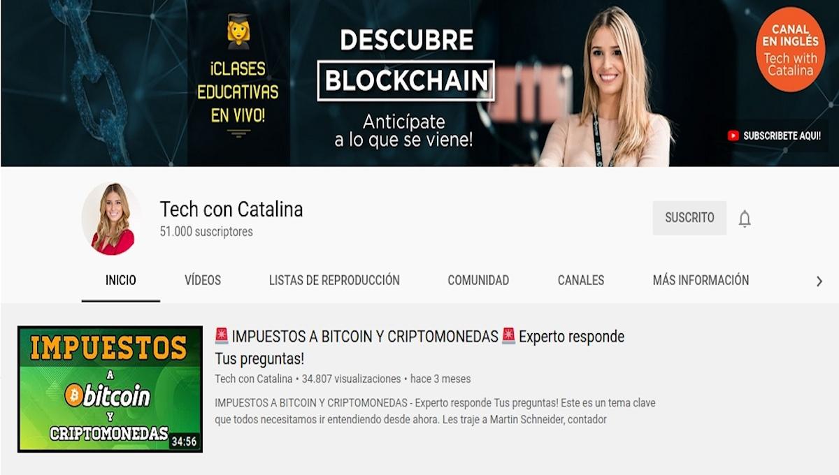 Catalina Castro es Instructora y Creadora de Contenido Educativo sobre Bitcoin, Blockchain y Cripto.