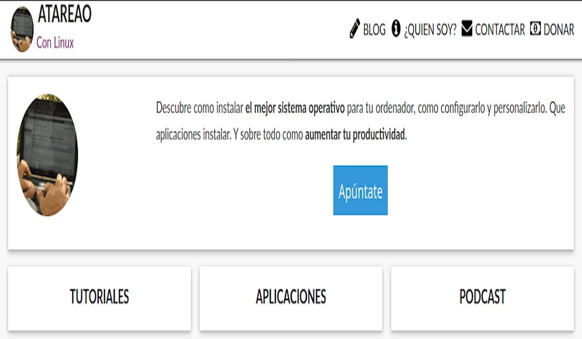 El Atareado: Es una web propiedad de Lorenzo, que vive en Silla, Valencia. Desde aquí da rienda suelta a sus dos grandes aficiones, la difusión del Open Source y el desarrollo de aplicaciones, principalmente para GNU/Linux y Android