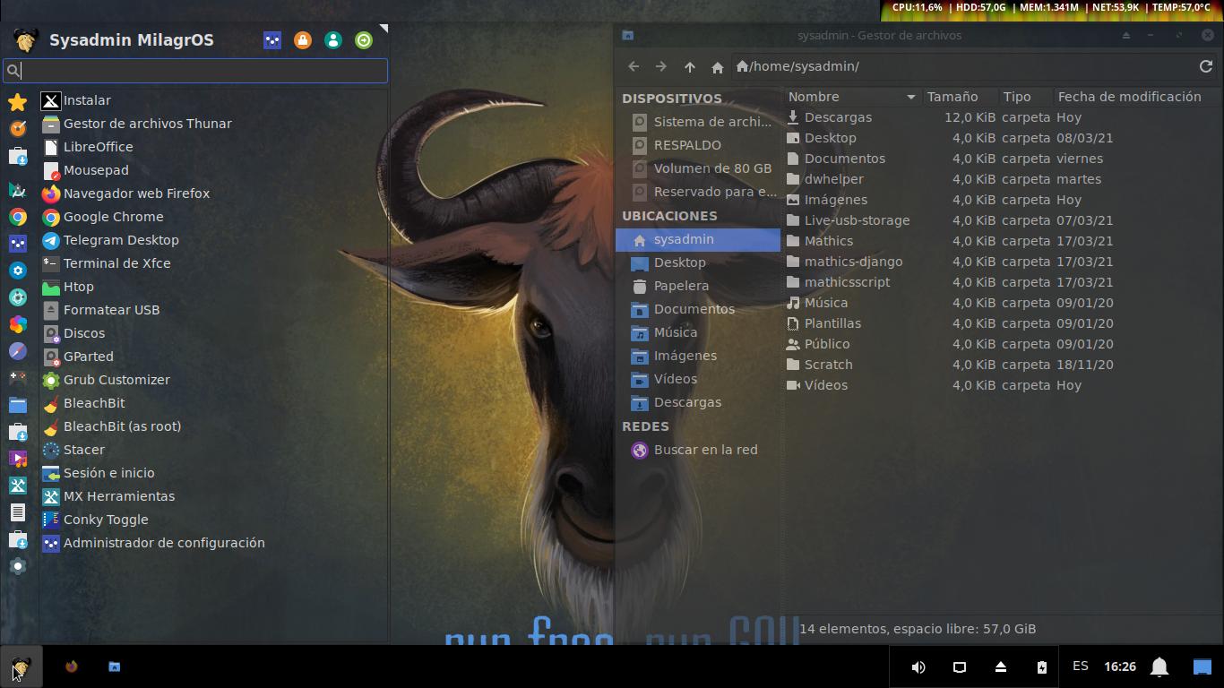 ¿Como personalizar nuestras Distros GNU/Linux con XFCE? - Ejemplo 2 usando MilagrOS basado en MX Linux